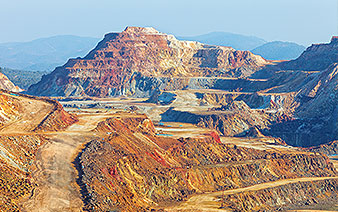 wide view of copperhead mining operation